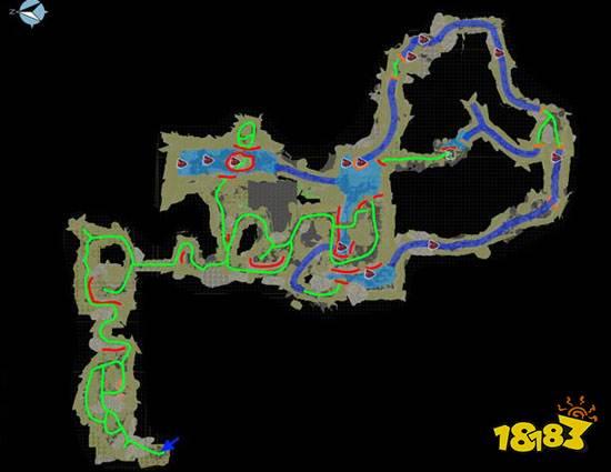 方舟生存进化手机版的沼泽矿洞怎么过?在沼泽矿洞里路线比较复杂,不过小编这里给大家准备了路线图以及攻略,跟随小编的指示走就行了,下面一起来看看吧。  方舟生存进化沼泽矿洞攻略 目前手机版暂未开放,将于后续放出; 位置坐标:56.2X68.2,入口树木较多,洞口在其附近1侧石壁上,该矿洞难度据说是除雪大和毒气矿洞外难度较大的;  洞内特性:极度寒冷、水路众多且漫长、水下生物众多; 洞内怪物:蜘蛛、泰坦巨蟒、毒蝎、爪蝠、古马陆!斑龙、食人鱼、帝鳄、屎壳郎; 所需装备:这边可选择两条路线,水路需:拉撒路杂烩、耐力