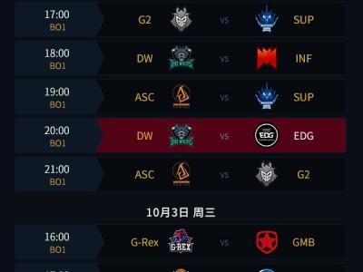 《LOL》2018S8总决赛比赛直播地址 S8全球总决赛赛程时间表一览
