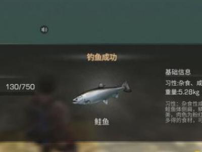 明日之后钓鲑鱼位置及烤鲑鱼属性攻略