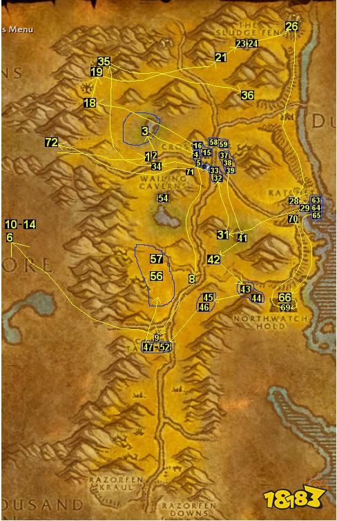 魔兽世界怀旧服部落16-20贫瘠之地升级,任务路线详解图片