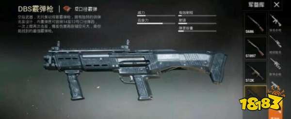 和平精英辅助DBS霰弹枪怎么玩 DBS霰弹枪玩法技巧