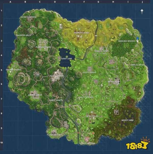 堡垒之夜第四赛季最新地图 陨石研究所登场