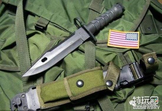 所以从美军M1加兰德步枪的佩刀M1刺刀到越南战争时期M14/M16步枪...