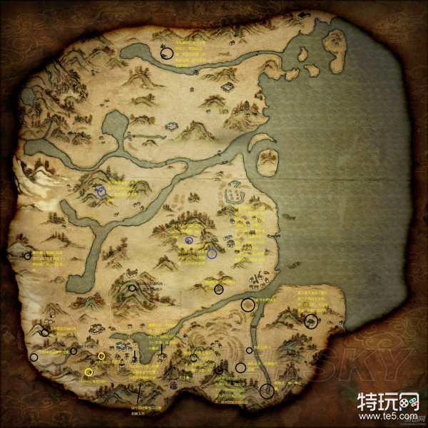 河洛群侠传全地图任务标注 已知任务标注地图一览