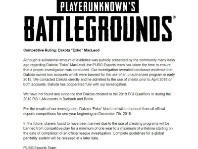 北美选手承认比赛作弊 官方勒令禁赛一年