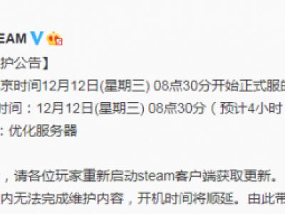 绝地求生12月12日正式服维护公告 更新时间介绍