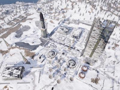 绝地求生初入雪地地图:维寒迪火箭基地介