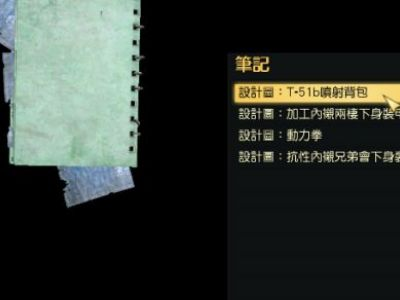 《辐射76》T51b、T60背包图纸获得方法