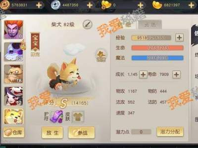 火王平民玩家宠物培养推荐