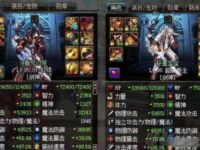 两大剑魂装备对比 团本同时申请你选择谁