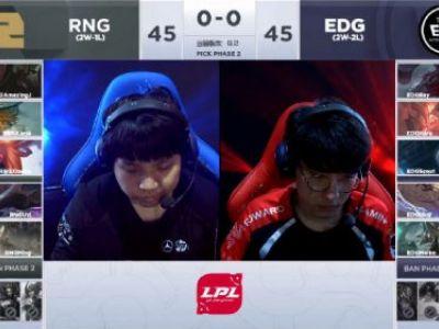 lpl2019春季赛2月17日EDGvsRNG:RNG2:0EDG拿下胜利
