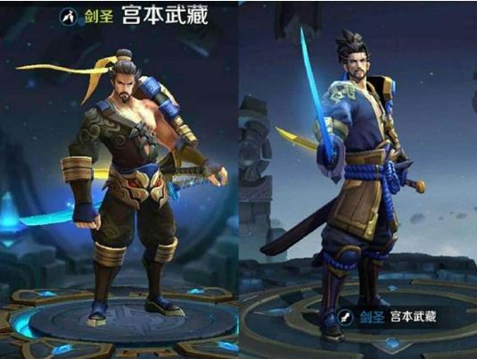 王者�s耀:新�f人物模型比��,�f版的李白很丑,嬴政是��小矮子