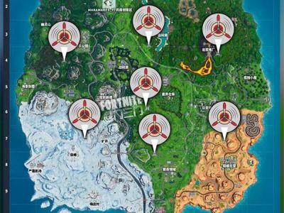 堡垒之夜7个空中平台位置分享