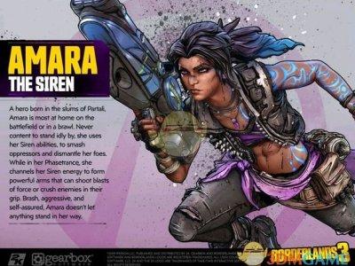 《无主之地3》魔女Amara角色设定图一览