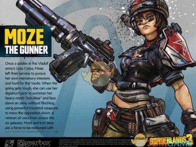 《无主之地3》枪手Moze角色设定图一览
