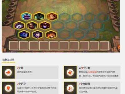 《云顶之弈》狂野变形龙法阵容及玩法分享
