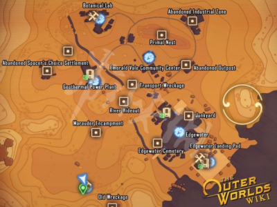 《天外世界》部分地圖關鍵點+傳送點位置標注 傳送點有哪些?