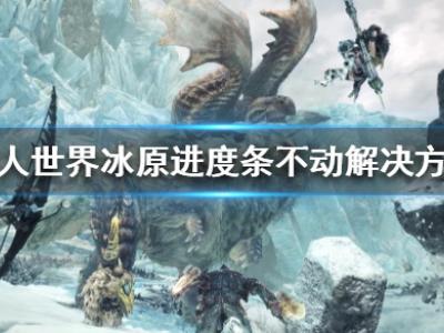 《怪物獵人世界冰原》進度條不動怎么辦 進度條不動解決方法一覽