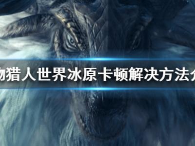《怪物獵人世界冰原》游戲卡怎么辦 游戲卡頓解決方法介紹
