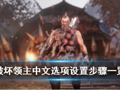 《破坏领主》怎么调中文?中文选项设置步骤一览