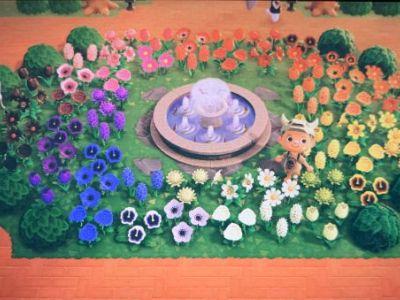动物之森全花色花圃建造心得