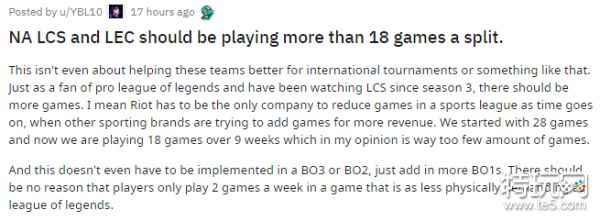 外网友讨论欧美赛区比赛太少 必须要多加比赛了