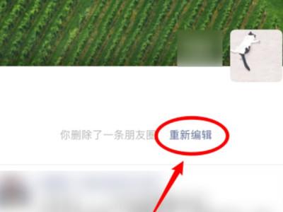 微信朋友圈删除了能恢复吗 朋友圈删除后重新编辑文字方法