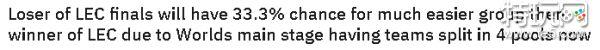 老外质疑世界赛赛制 LEC二号种子分组比一号好打
