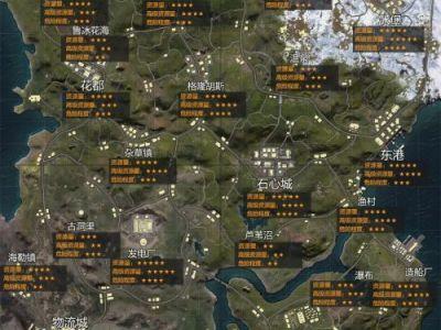 和平精英山谷地图资源分布图 和平精英山谷哪里资源多