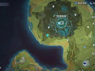 原神风龙废墟石中剑彩蛋在哪里