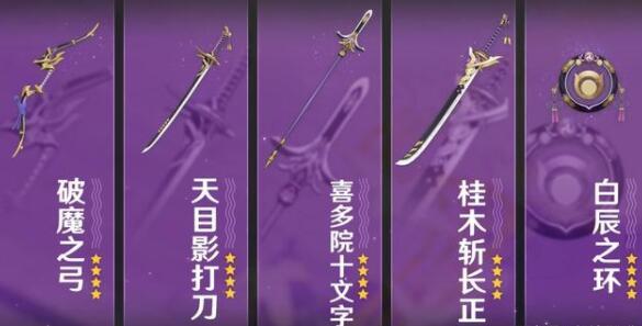 原神2.0版本稻妻锻造武器适合角色推荐