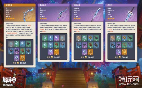 原神2.2新增武器有哪些 2.2新增武器一览