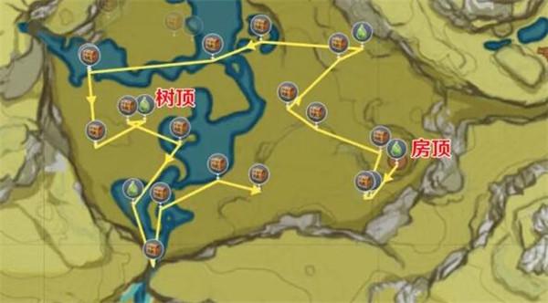原神盤岩之路任务和100%收集完成攻略